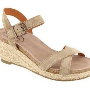 Taos Hey Jute Suede Wedge Espadrille Sandals Strap